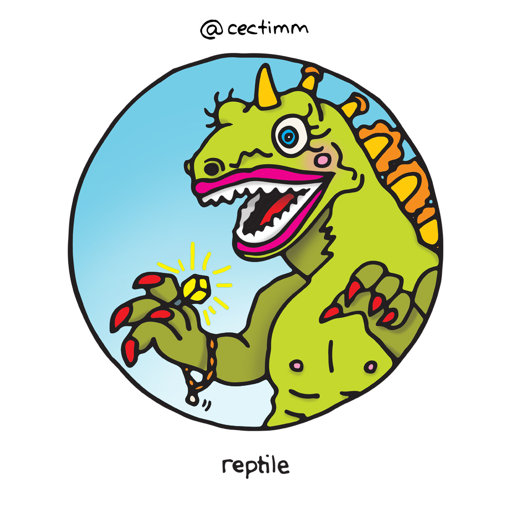 cectimm 52 Week Illustration Challenge Week 47 Reptile