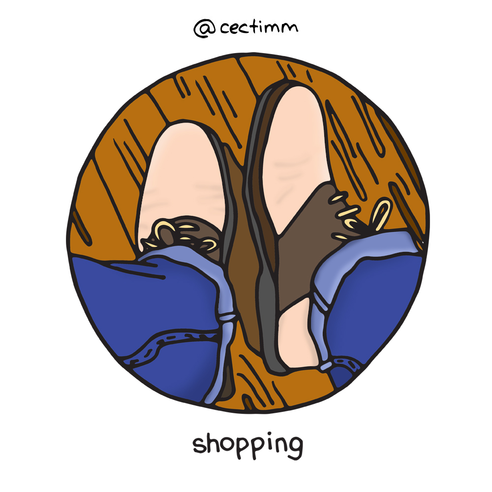 cectimm 52 Week Illustration Challenge Week 51 Shopping